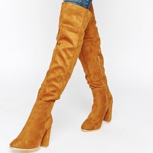Shoes - Chestnut over the knee boots